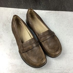 Keen Cush Brown Leather Loafers 9.5